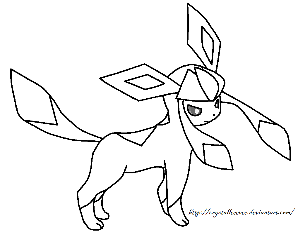 Eevi Kleurplaat Glaceon Template By Crystalleeevee On Deviantart
