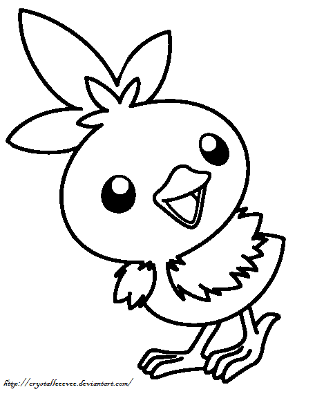 torchic coloring pages