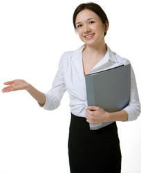 AthenaStock::Woman Showing
