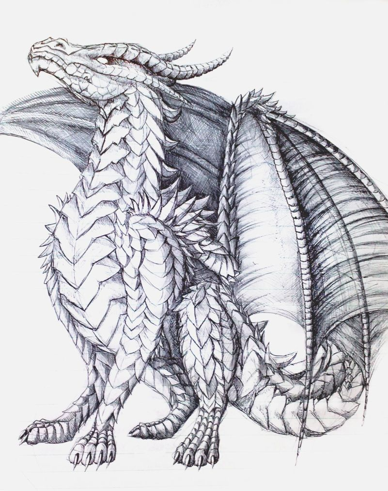 The proud one by almieliandri on deviantart for Hard coloring pages of dragons