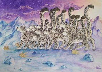 Snow Leopard Parade by AlmieLiandri