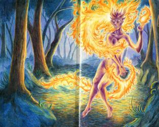 Flamekin Fairy by AlmieLiandri