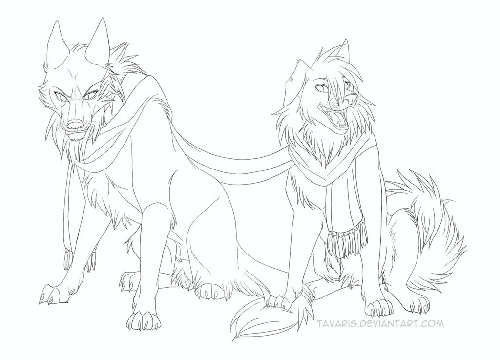 Smile for the Camera - Lineart REDO by Tavaris