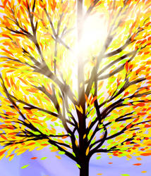 Scenery Practice: Tree in the Fall by Rhoark