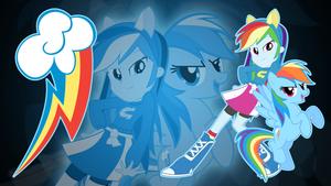 Rainbow Dash EQG Wallpaper by Jerimin19