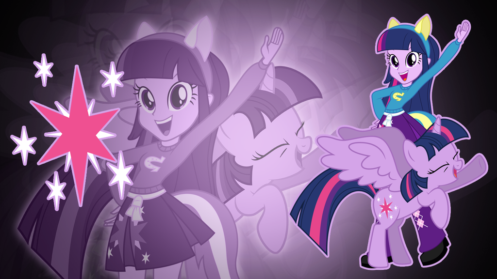 Twilight Sparkle EQG Wallpaper by Jerimin19