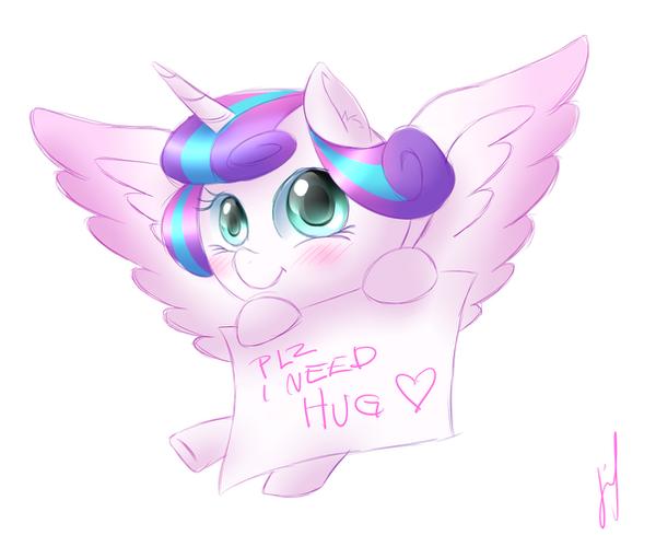 Hug Flurry Heart Please by Jerimin19