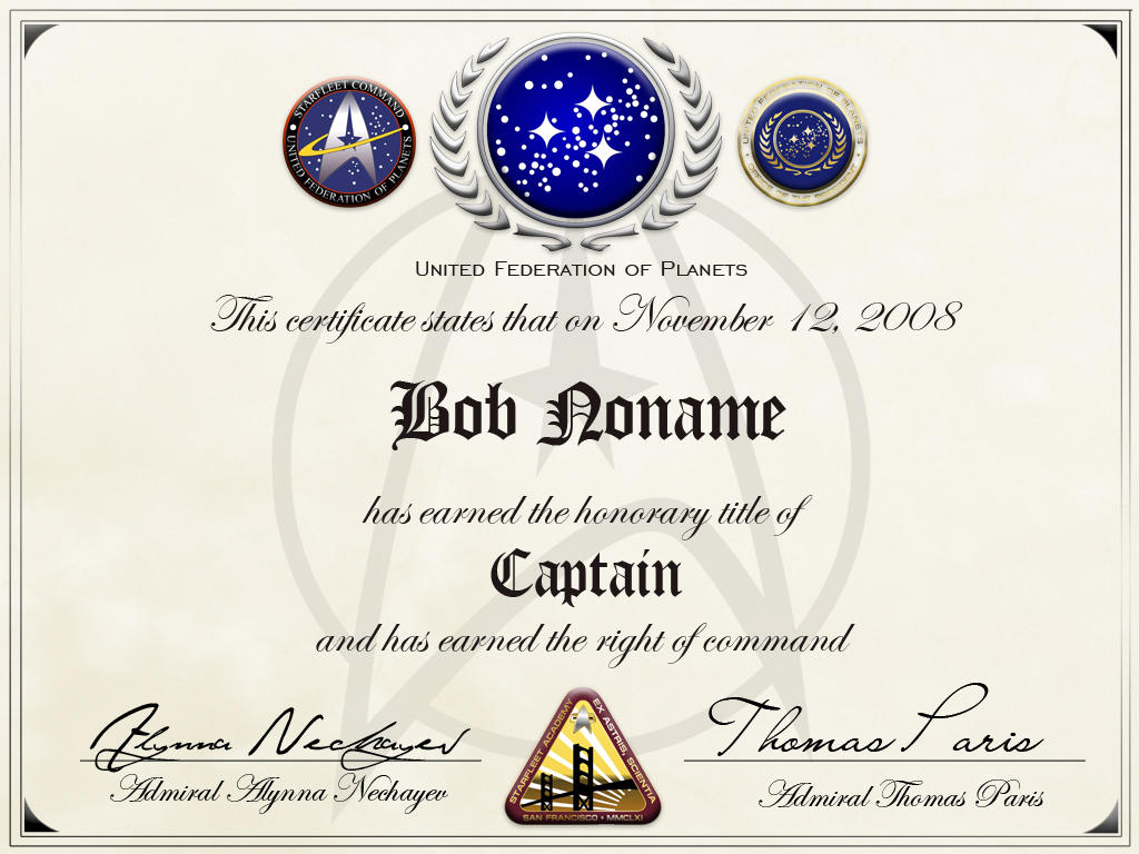 Starfleet honorary captainship