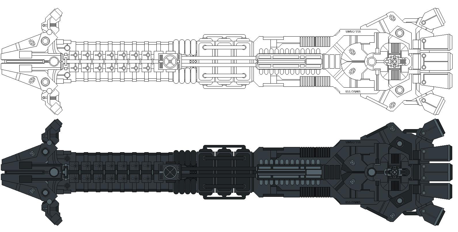 USS Cygnus Re-imagined by Balsavor on DeviantArt