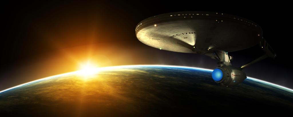 Enterprise at dawn by Balsavor