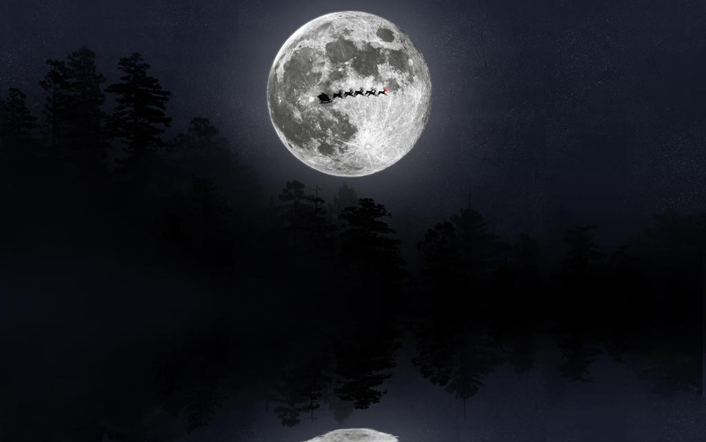 Moonlit Christmas Eve Rudolph