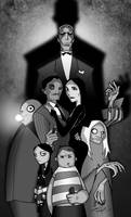 The Addams Family B and W