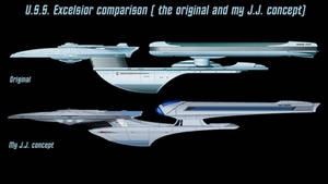 USS Excelsior comparison