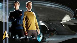 Kirk and Spock wallpaper by Balsavor