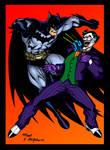 Batman VS The Joker colored