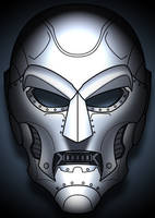 Doom mask concept colored II by Balsavor