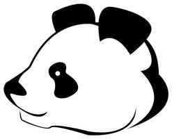 Panda head tattoo by Balsavor