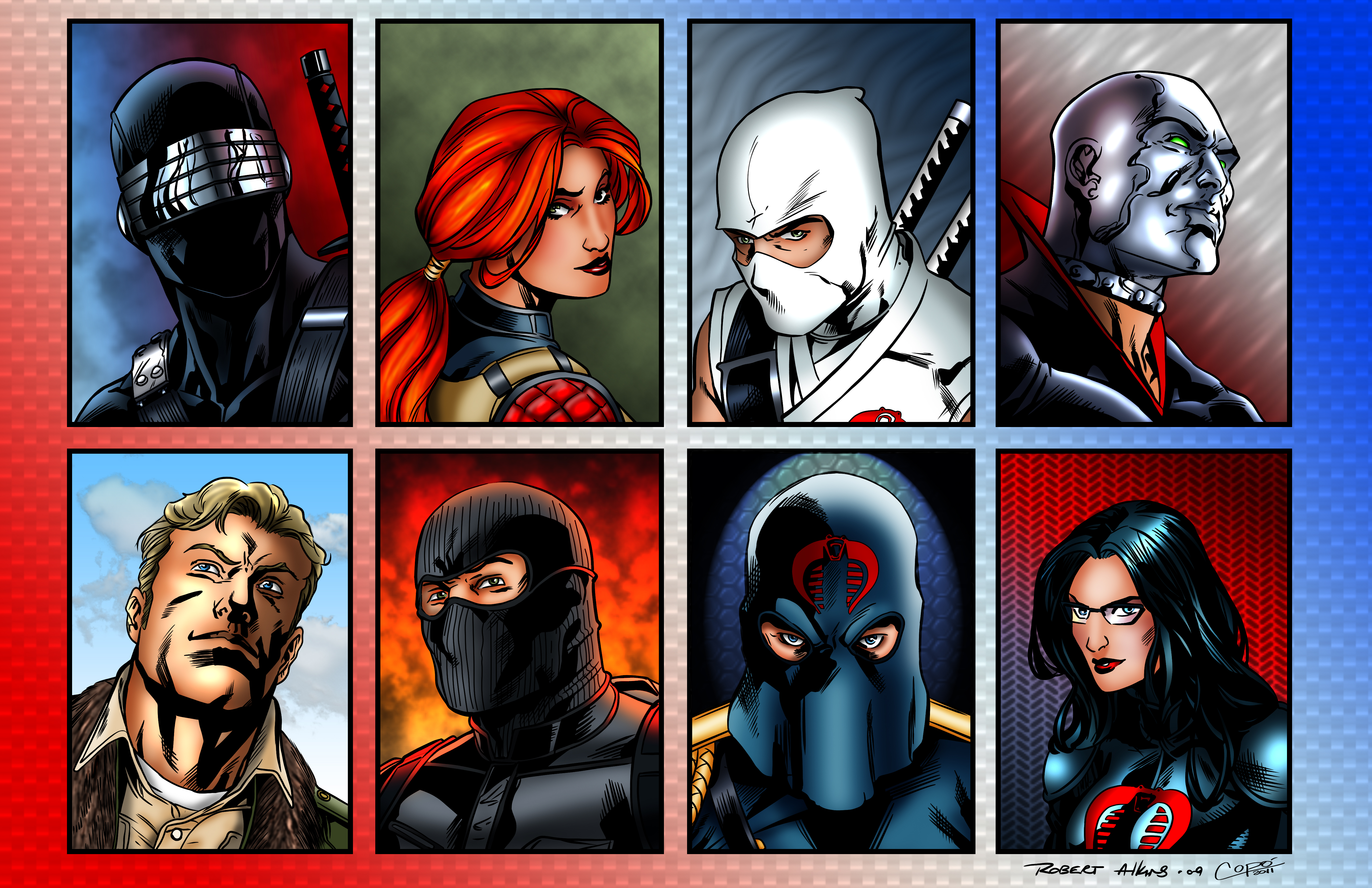G.I. Joe cards colored by Balsavor