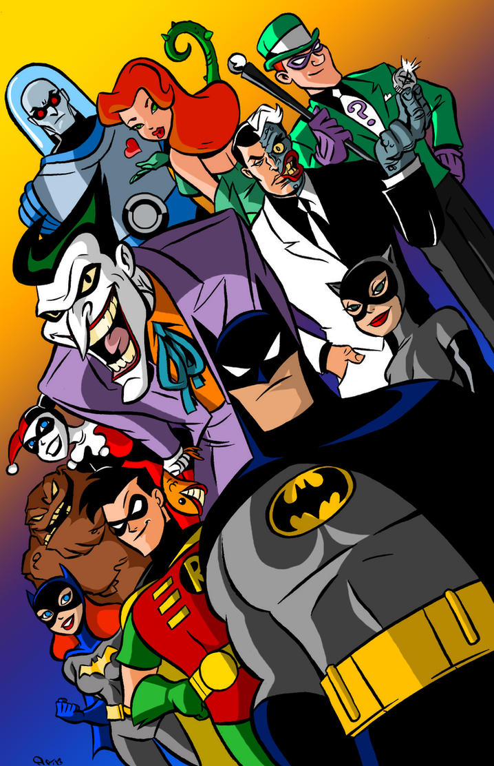 Batman the animated series poster by scoot by scoo by - 90s cartoon wallpaper ...
