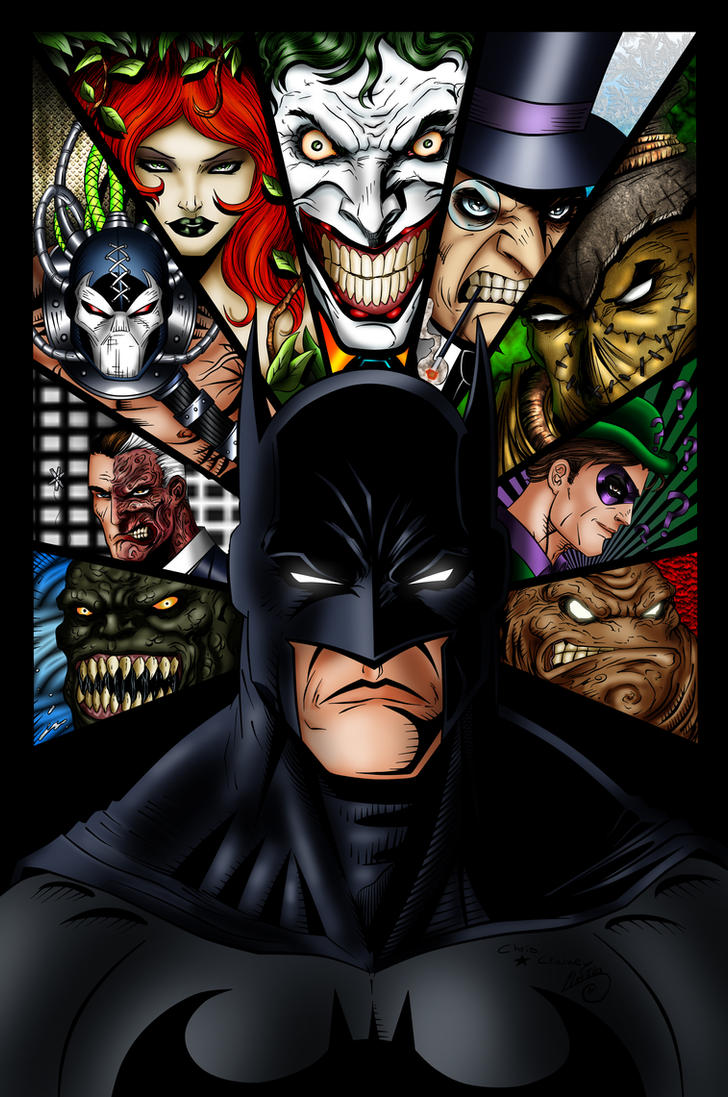 Batman and villains ink colored by balsavor on deviantart batman and villains ink colored by balsavor buycottarizona Images