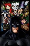 Batman and Villains Ink colored