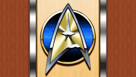 Starfleet arrowhead plaque