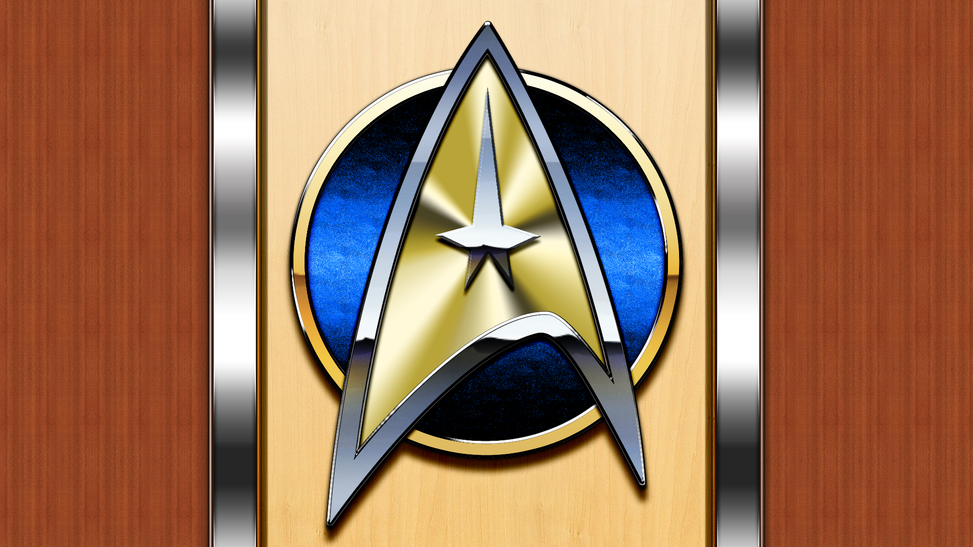Starfleet arrowhead plaque by Balsavor