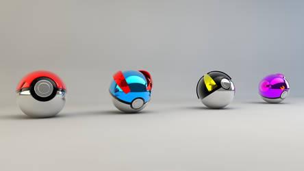 Pokeball first generation by IDesignish