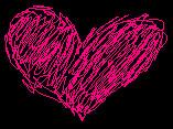 Neon.Hot.Pink.Heart.On.Black by nejiXtentenfangirl
