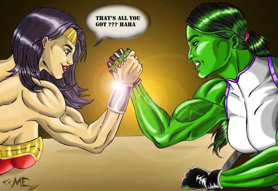 wonder woman vs hulk: