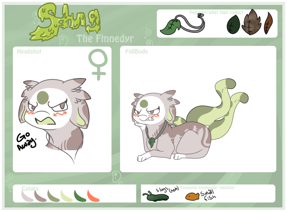 Slug reference sheet by Ickyee