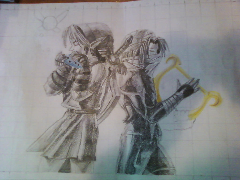 Link and Sheik WIP by AlphaHawk98