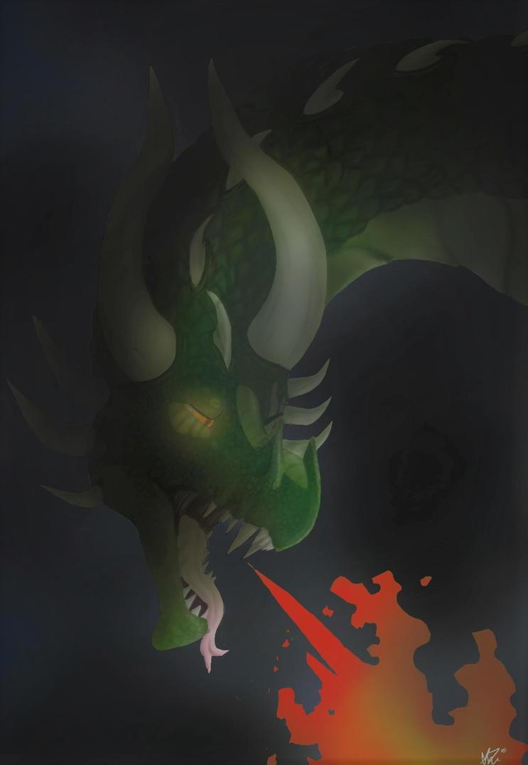 Lineless Dragon Experiment by AlphaHawk98