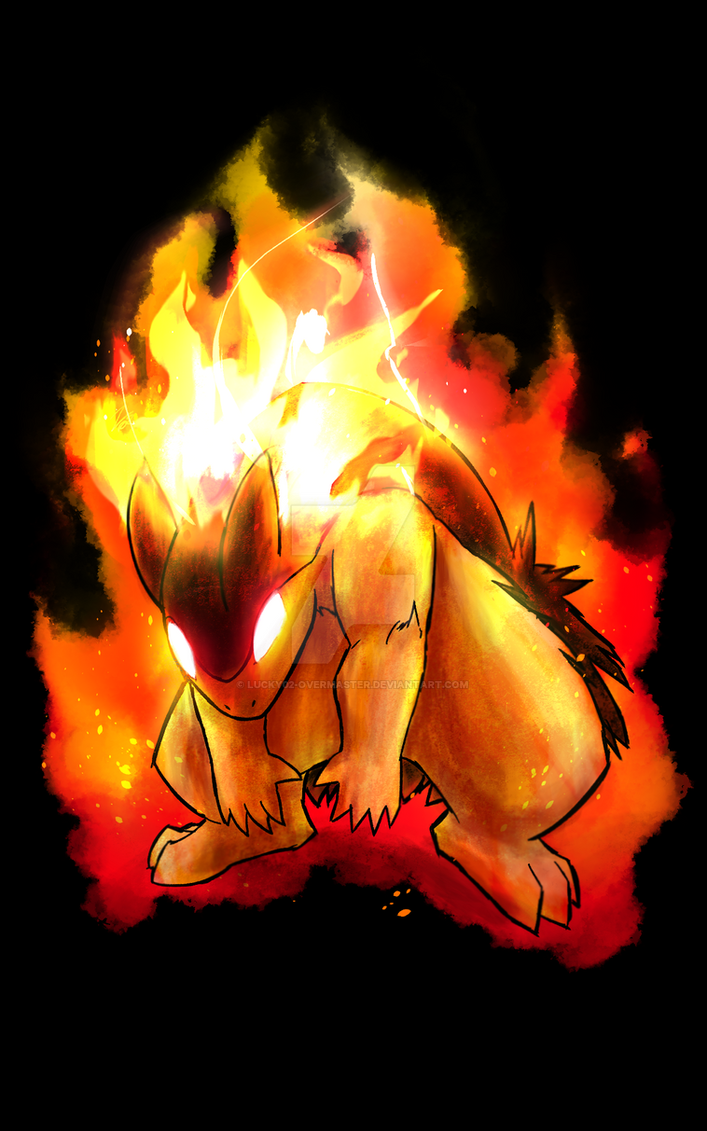 Typhlosion art by Lucky02-Overmaster
