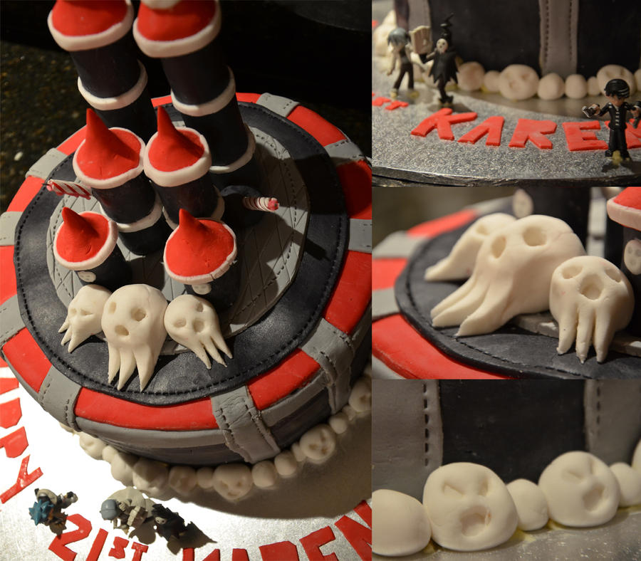 Soul Eater Cake by kalgeo