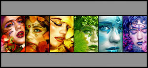 Rainbow Petals by gogirlanime