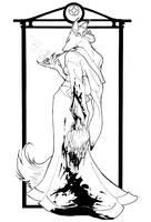 Kitsune, In Progress Inks by foxfur