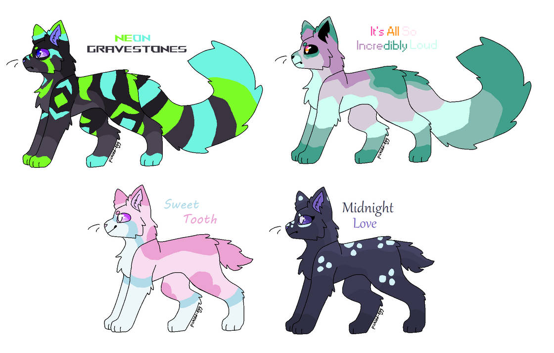 Song Themed Cat OTA Adoptables ~ OPEN