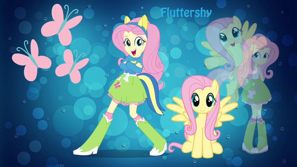 equestria girl fluttershy wallpaper by shing385629 on