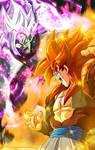 Gogeta VS Merged Zamasu Wallpaper