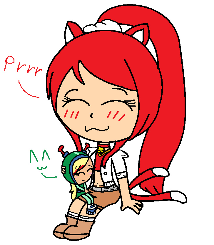 R: Cj and Sasha the kitty girl by Mushoormcute64