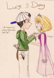 Luigi and Daisy by FerretEmpress