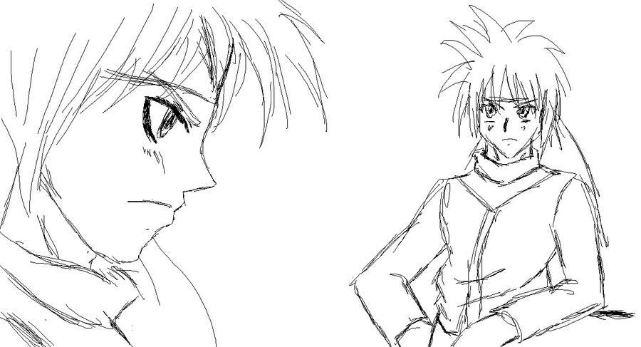random anime sketch by ss2sonic