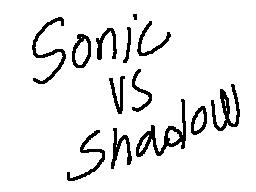 sonic vs shadow flipnote by ss2sonic