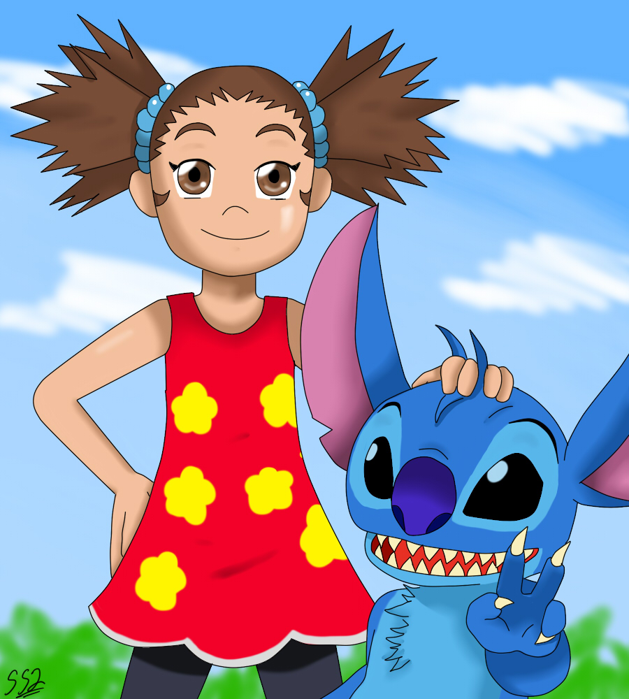 Yuna And Stitch By Ss2sonic On DeviantArt