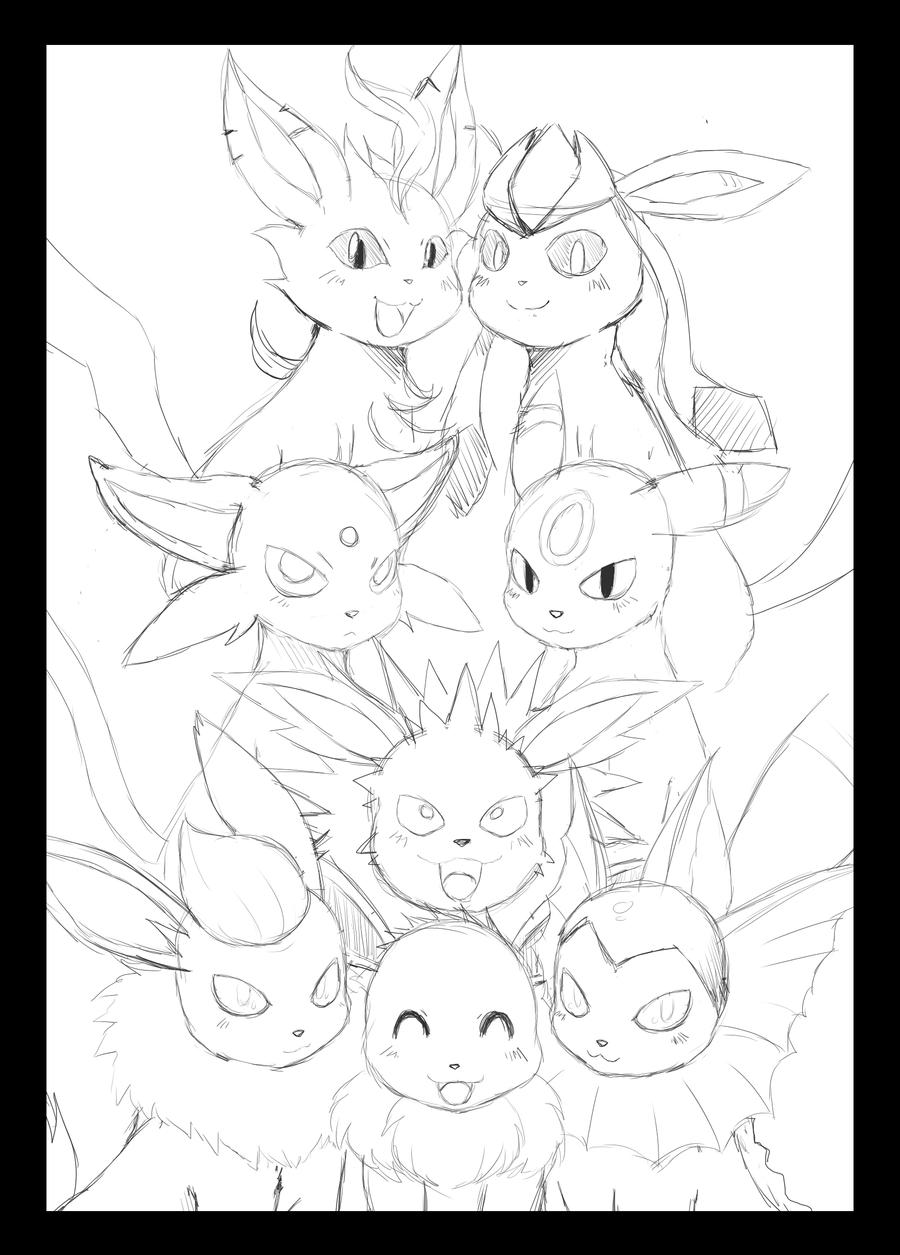 Eevee Pokemon Color Pages