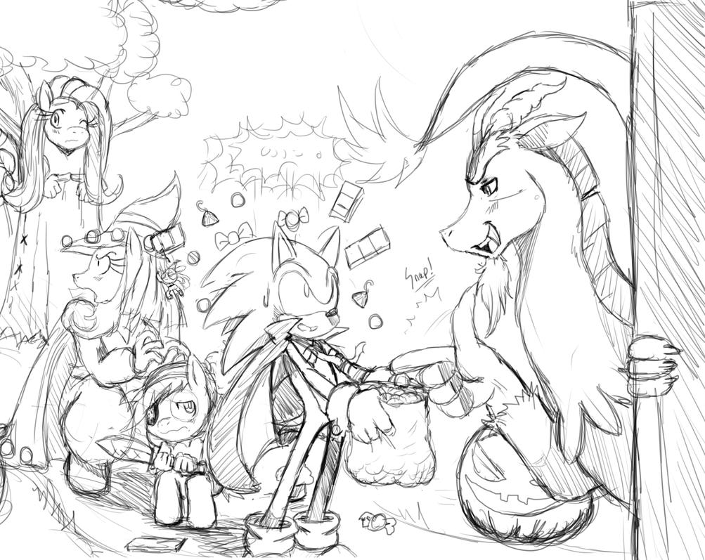 SonicxMLP: Trick or Treat WIP by ss2sonic