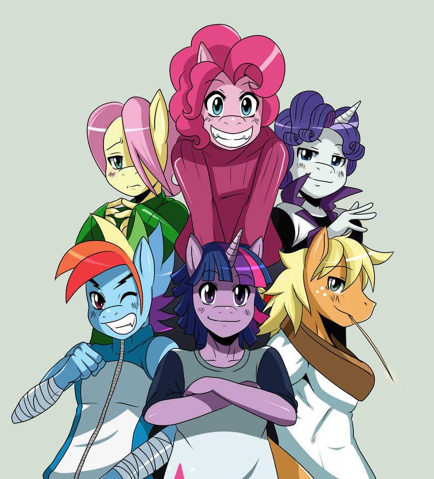 :GIFT: GenderSwap Ponies... by ss2sonic