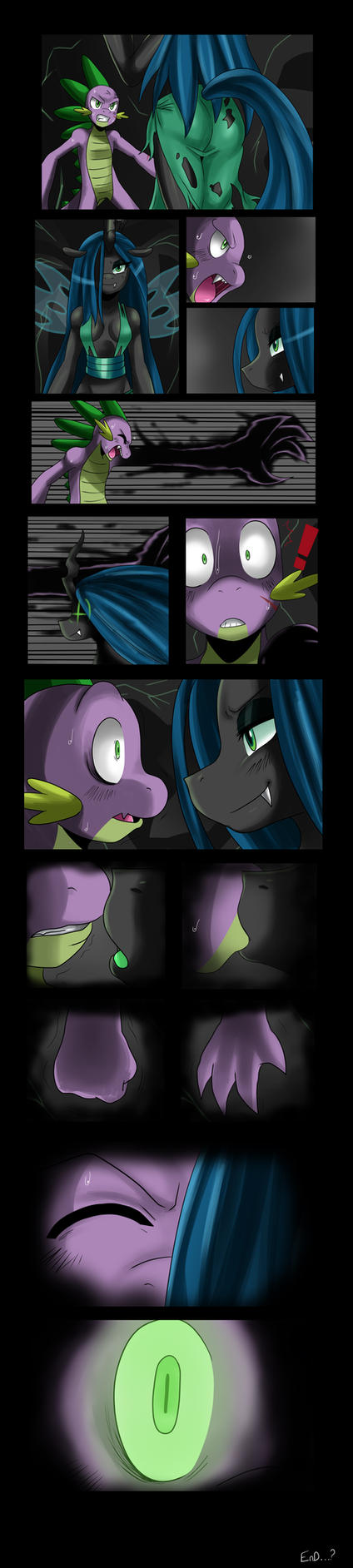 COMIC: Spike vs Chrysalis by ss2sonic