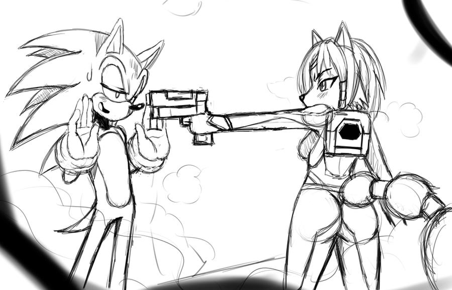 Sonic and Krystal Sketch by ss2sonic